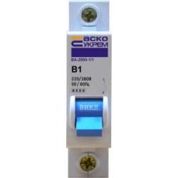 Автоматический выключатель ВА-2000 1P 1-5 А хар-ка B
