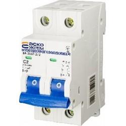 Автоматичний вимикач ВА-2017 2P 6-25А характеристика C