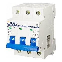 Автоматичний вимикач ВА-2017 3P 1-5А характеристика C
