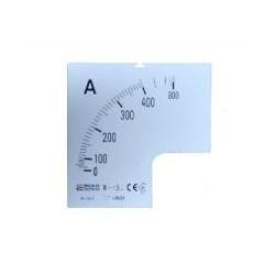 Шкала 400/5А к амперметру трансформаторного включения A-72-6 (72×72 мм)