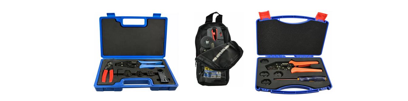 Наборы инструмента для опрессовки наконечников и резки кабеля