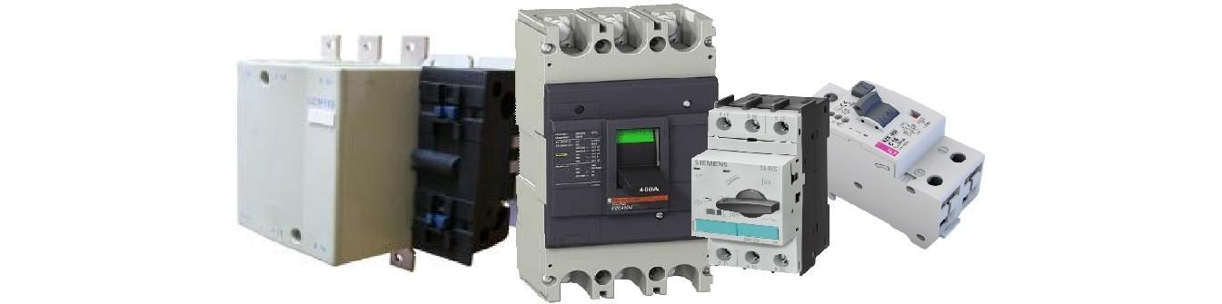Електротехнічне обладнання-автоматичні вимикачі, ПЗВ, кнопки