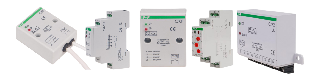 Реле контролю фази - реле та датчики контролю напруги