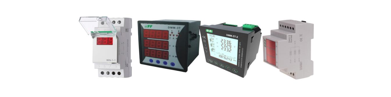 Мультиметры - вольтметр, амперметр, индикатор - панельный измеритель